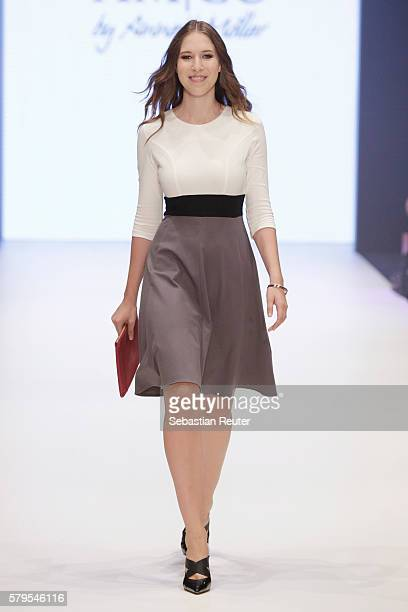 Alana Siegel walks the runway for AMCO by Annett Moeller as part of the Platform Fashion Selected show during Platform Fashion July 2016 at Areal...