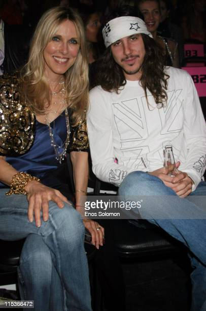 Alana Stewart and Cisco Adler during Cadillac Presents Rock Republic Fall 2005 Fashion Show Backstage and Front Row at Sony Studios in Culver City...