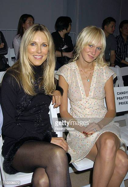 Alana Stewart and Kimberly Stewart during Olympus Fashion Week Spring 2005 Zang Toi Front Row and Backstage at Plaza Tent Bryant Park in New York New...