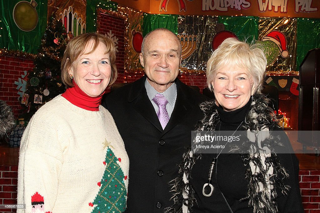Alana Sweeny, Commissioner of New York Raymond Kelly and Veronica Kelly attend CitySightseeing New York 2013 holiday toy drive at PAL's Harlem Center on December 14, 2013 in New York City.