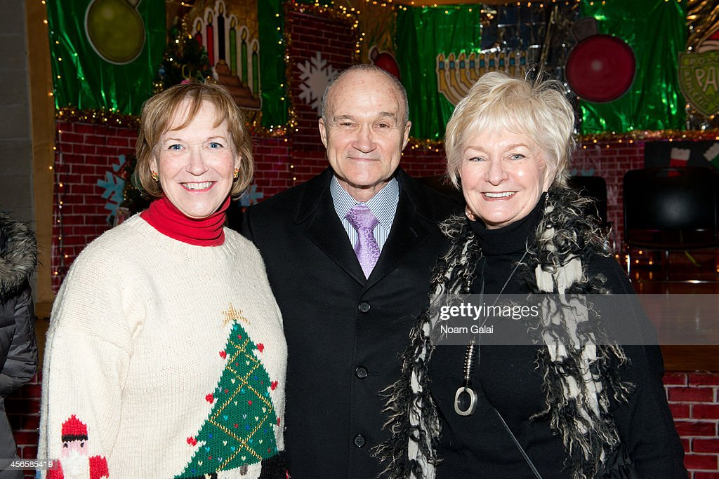 Alana Sweeny, Ray Kelly and Veronica Kelly attend the 2013 CitySightseeing New York holiday toy drive at PAL's Harlem Center on December 14, 2013 in New York City.