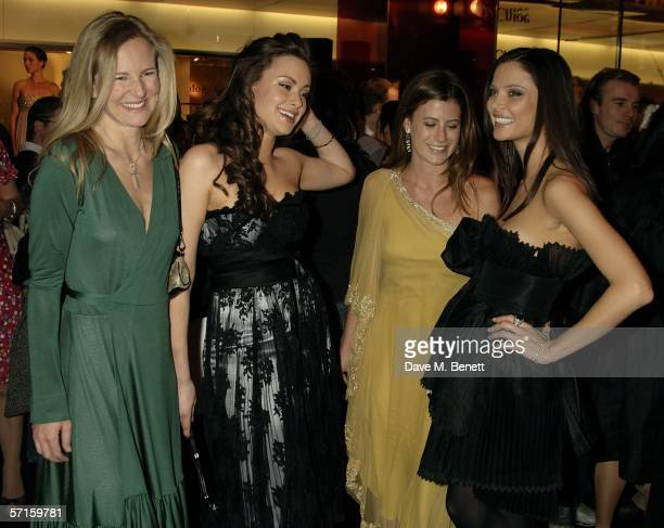 Alana Weston Camilla AlFayed Francesca Versace and Georgina Chapman attend the VIP launch party for British couture label Marchesa's Spring/Summer...