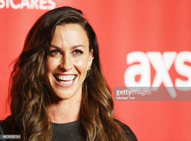Alanis Morissette arrives at the 2015 MusiCares Person of The Year honoring Bob Dylan held at Los Angeles Convention Center on February 6 2015 in Los...