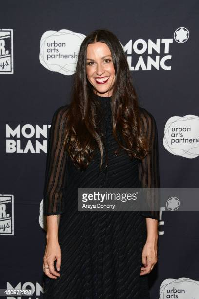 Alanis Morissette attends the 24 Hour Plays LA 2014 to benefit Urban Arts Partnership presented by Montblanc on June 20 2014 in Santa Monica...