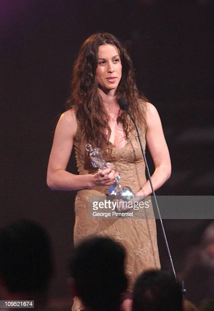 Alanis Morissette during 2003 Juno Awards Show at Corel Centre in Ottawa Ontario Canada