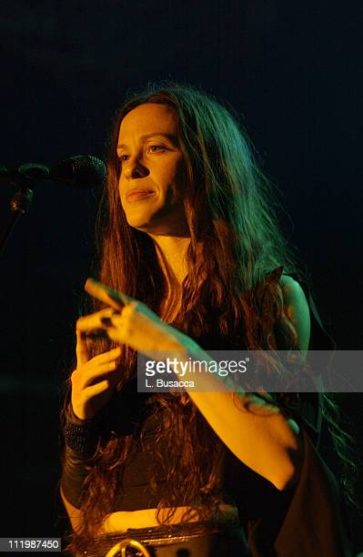 Alanis Morissette during Alanis Morissette Live at the Bowery Ballroom at Bowery Ballroom in New York NY United States