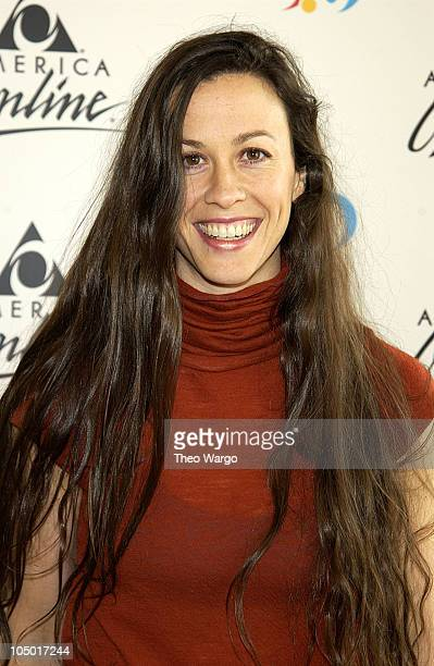 Alanis Morissette during AOL 80 Launch and Member Celebration at Avery Fischer Hall in New York City New York United States