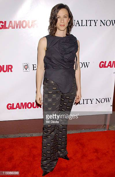 Alanis Morissette during Glamour Magazine Presents Equality Now Benefit at Plaid in New York City New York United States