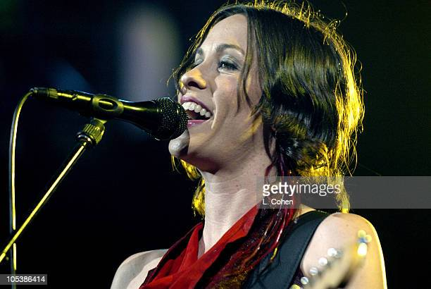 Alanis Morissette during STAR 987's 'Not So Silent Night' Star Holiday Concert Show at The Theatre At the Arrowhead Pond in Anaheim California United...