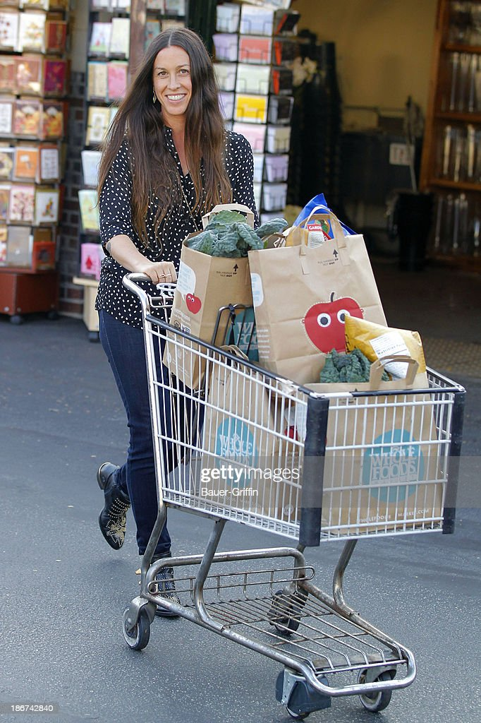 <a gi-track='captionPersonalityLinkClicked' href=/galleries/search?phrase=Alanis+Morissette&family=editorial&specificpeople=171150 ng-click='$event.stopPropagation()'>Alanis Morissette</a> is seen on November 03, 2013 in Los Angeles, California.
