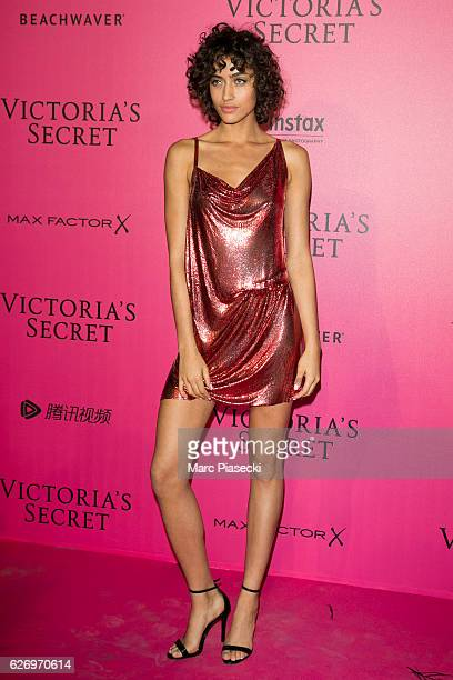 Alanna Arrington attends '2016 Victoria's Secret Fashion Show' after show photocall at Le Grand Palais on November 30 2016 in Paris France
