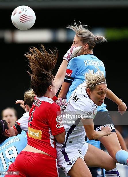 Alanna Kennedy of Sydney in action during the round four WLeague match between Sydney FC and Perth Glory at Lambert Park on November 8 2015 in Sydney...
