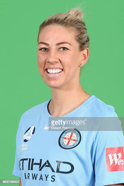 Alanna Kennedy poses during the Melbourne City WLeague headshots session on November 2 2017 in Melbourne Australia