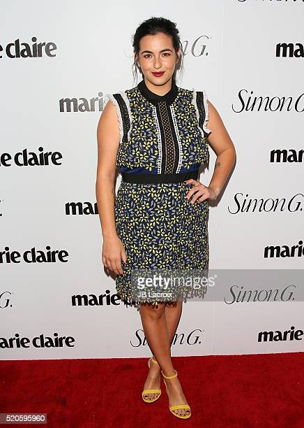 Alanna Masterson attends the 'Fresh Faces' party hosted by Marie Claire celebrating the May issue cover stars on April 11 2016 in Los Angeles...