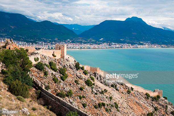 Alanya Castle walls and coastline