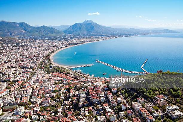 Alanya city and harbor, Turkey