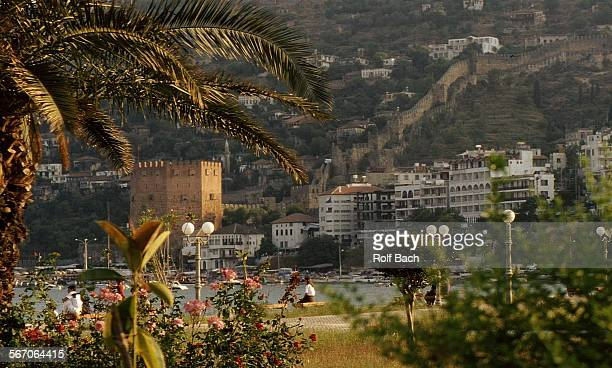 Alanya, city scape and Red Tower