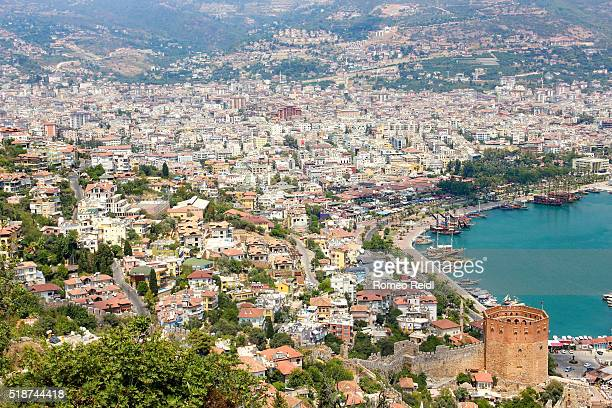 Alanya - cityscape with the red tower