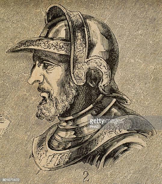 Alaric II Visigothic king Eurico successor and son Engraving