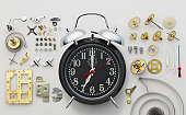 Alarm clock and parts