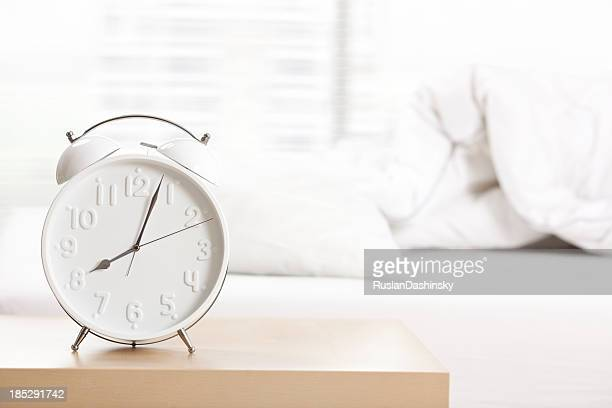 Alarm clock at sleeping room.