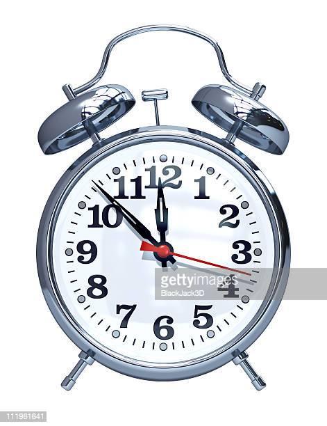 Alarm clock. Isolated on white