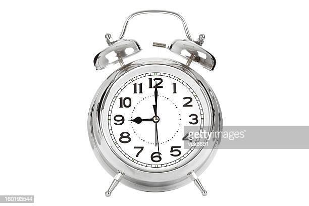 Nueve reloj despertador que muestra