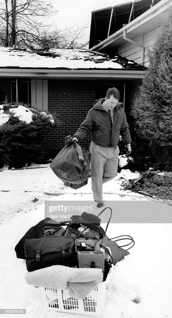 Fire Department Christmas Gifts Part - 48: Alarm Fire 5707 S. Clarkson; Scott Sheridan Carrying Christmas Gifts And  Belongings From House