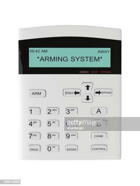 Alarm System der Tastatur
