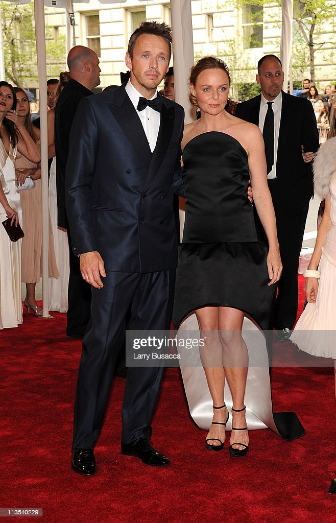 Alasdhair Willis and Designer Stella McCartney attend the 'Alexander McQueen: Savage Beauty' Costume Institute Gala at The Metropolitan Museum of Art on May 2, 2011 in New York City.