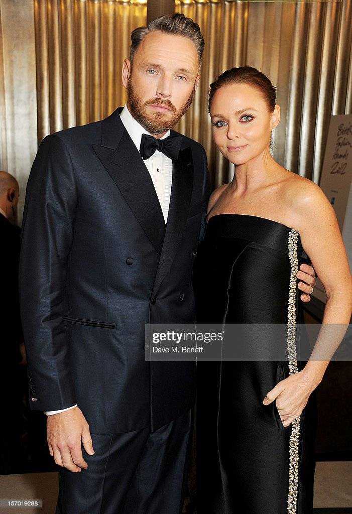 Alasdhair Willis (L) and Stella McCartney attend a drinks reception at the British Fashion Awards 2012 at The Savoy Hotel on November 27, 2012 in London, England.