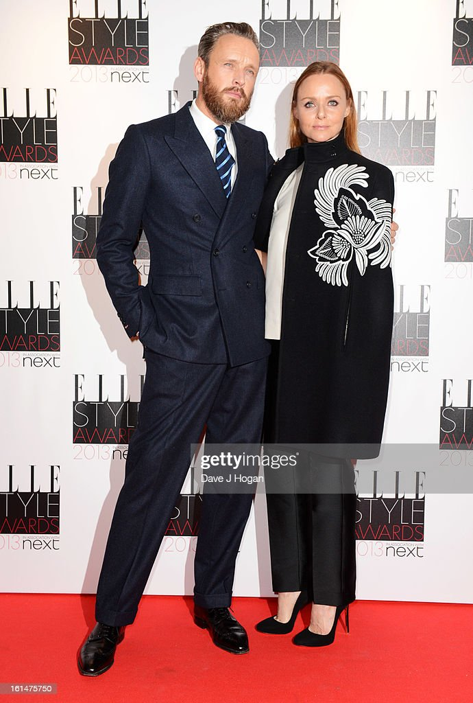Alasdhair Willis and Stella McCartney attend The Elle Style Awards 2013 at The Savoy Hotel on February 11, 2013 in London, England.