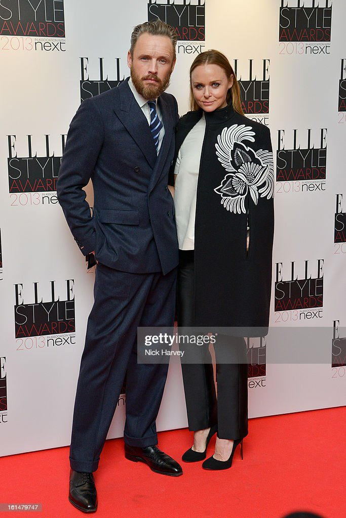 Alasdhair Willis and Stella McCartney attends the Elle Style Awards 2013 on February 11, 2013 in London, England.