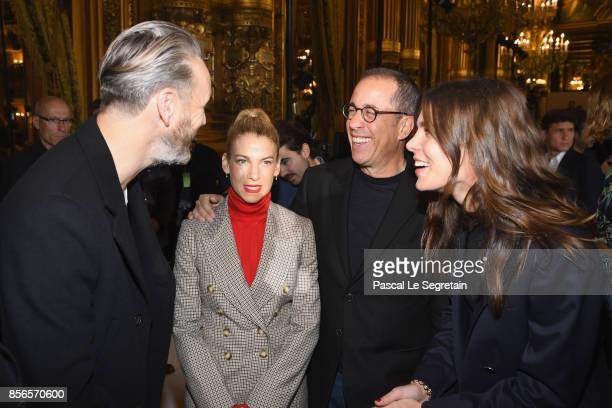 Alasdhair Willis Jessica Seinfeld Jerry Seinfeld and Charlotte Casiraghi attend the Stella McCartney show as part of the Paris Fashion Week...