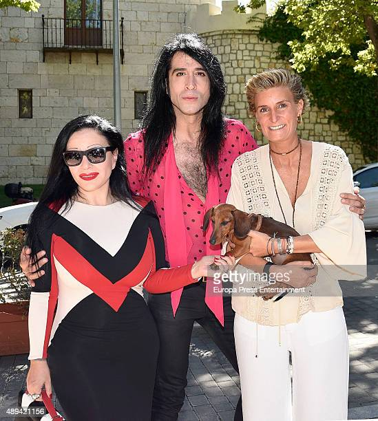 Alaska and Mario Vaquerizo attend Maria Zurita's 40 birthday on September 20 2015 in Madrid Spain