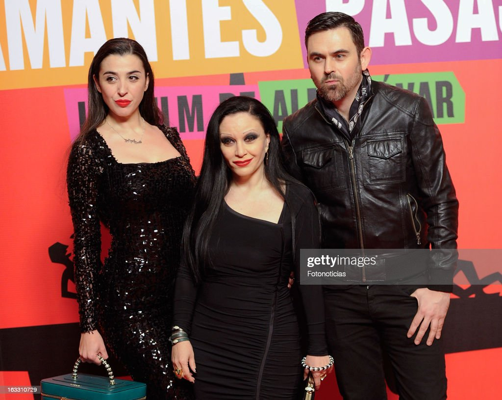 Alaska (C) and Nancy Rubias members attend 'Los Amantes Pasajeros' premiere party at the Casino de Madrid on March 7, 2013 in Madrid, Spain.