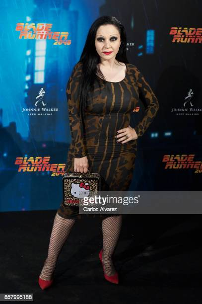 Alaska attends 'Blade Runner 2049' premiere at the Callao cinema on October 5 2017 in Madrid Spain