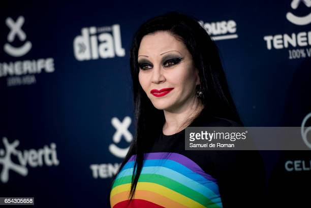 Alaska attends the 'Cadena Dial' awards photocall on March 16 2017 in Tenerife Spain