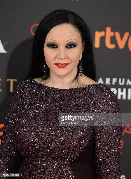 Alaska attends the Goya Cinema Awards 2016 Ceremony at Madrid Marriott Auditorium on February 6 2016 in Madrid Spain