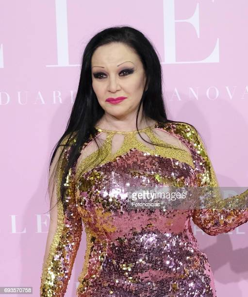Alaska attends the 'Pieles' premiere pink carpet at Capitol cinema on June 7 2017 in Madrid Spain