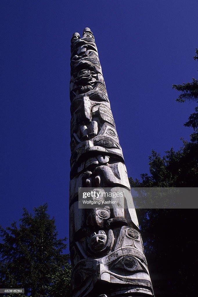 USA Alaska Inside Passage Baranof Island Sitka National Historic Park Totem