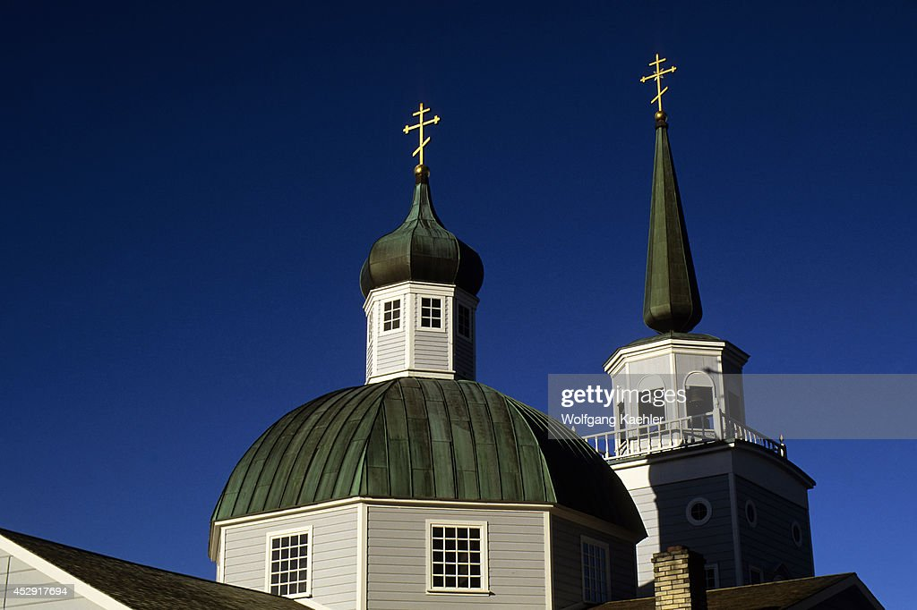 USA Alaska Inside Passage Baranof Island Sitka St Michael's Cathedral
