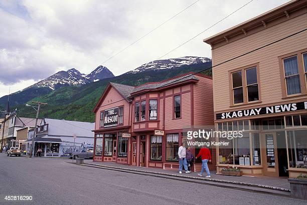 USA Alaska Inside Passage Skagway Main Street