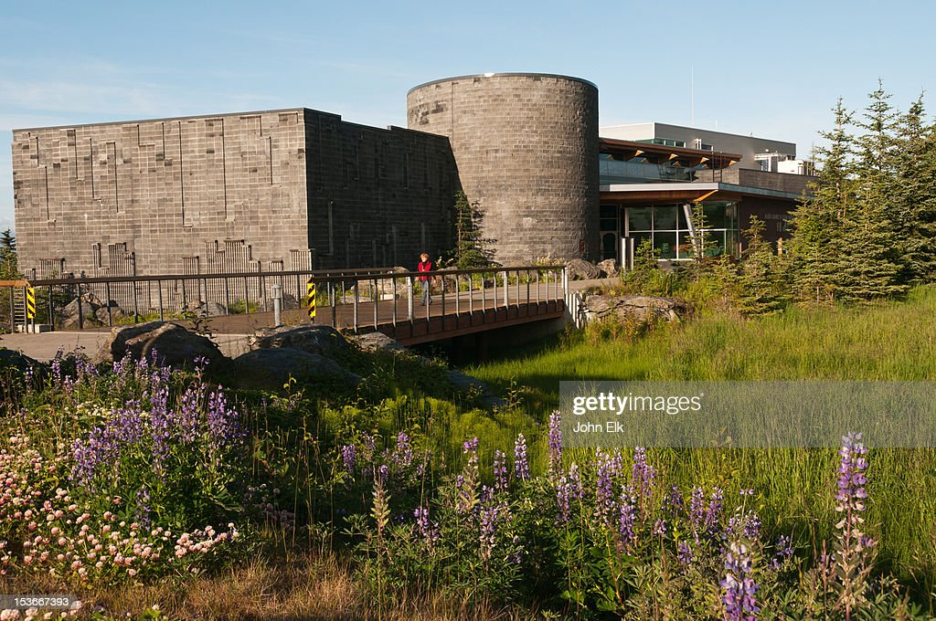 Alaska Islands and Oceans Visitor Center with woma : Stock Photo