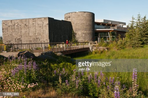 Alaska Islands and Oceans Visitor Center with woma : Foto de stock