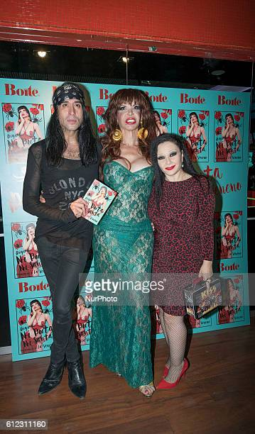 Alaska Mario Vaquerizo and Cristina Ortiz attend the presentation of the book quotMemories Of Veneno Digo Ni Puta Ni Santaquot in Madrid Spain on...