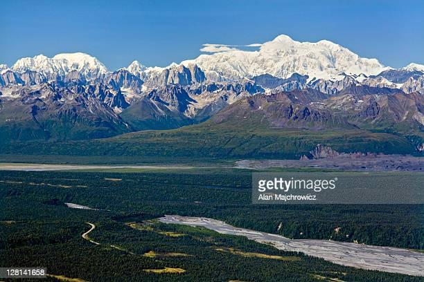 Alaska Range from Kesugi Ridge, Denali State Park, Alaska. USA