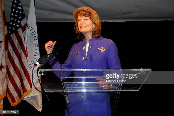 Alaska senator Kisa Murkowski speaks during the 2013 Team USA Congressional Reception on November 12 2013 at 101 Constitution in Washington DC
