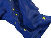 alaska state flag close up. United states local flags. 3D illustration