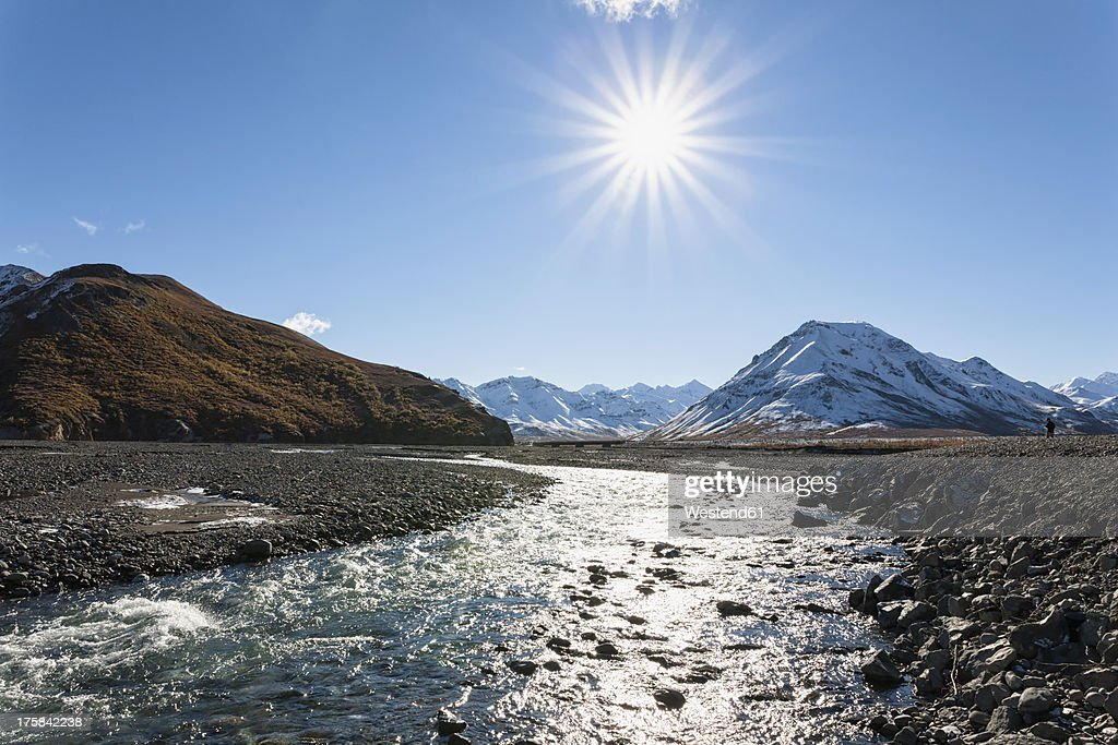 USA, Alaska, View of Toklat River at Denali National Park